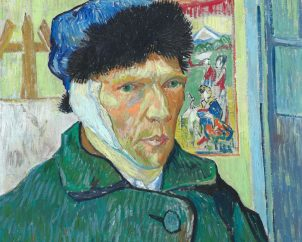 van Gogh self-portrait with bandaged ear-1889