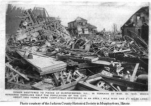 Tri-State Tornado damage Murphysboro, IL (1925)