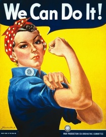 Rosie the Riveter (public domain)