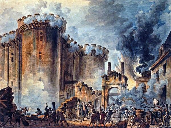 Prise de la Bastille by Jean-Pierre Houël (1789)