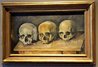 The Three Skulls (c1900) by Paul Cezanne