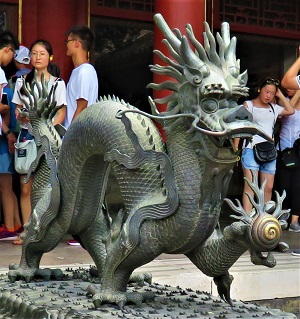 Dragon, Forbidden City, Photo by cjverb (2017)