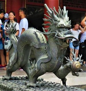 Dragon, Forbidden City, Photo by cjverb (2017)