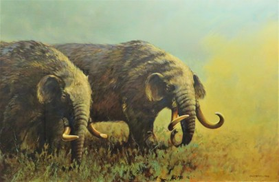 Mastodon Painting by Gijsbert (1990), Michigan State University Museum, Photo by cjverb (2017)