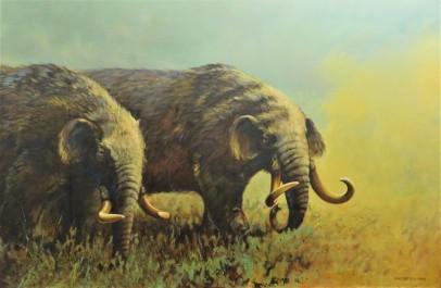 Mastodon Painting by Gijsbert (1990), Michigan State University Museum, Photo by cjverb (2017)