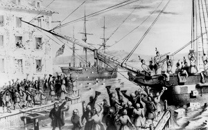 Boston Tea Party (1846), by Sarony & Major, Wikimedia Commons