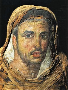 Fayum Mummy Portrait, WikiMedia Commons