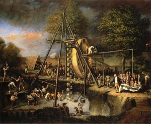 The Exhumation of the Mastadon, Charles Willson Peale (1806), WikiMedia Commons