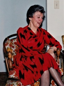 Grandma's Chair tricked out in 1980s upholstery, (c1988)