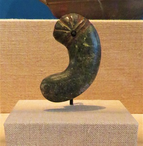 Jade Bead (3 Kingdoms, 57 BCE-676 CE), Univ. of Michigan Museum of Art, Photo by cjverb (2018)