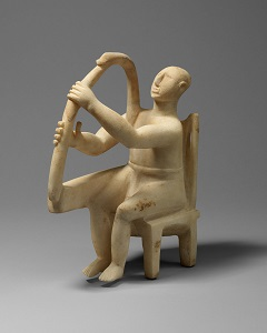 Marble seated harp player (c2800-2700 BCE), Metropolitan Museum of Art