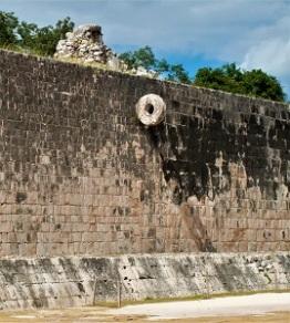 Ball Court at Chichén Itzá, Photo by L.M.B Sanchez, WikiMedia Commons