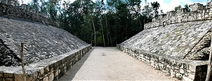 Ball Court at Coba, Mexico, Photo by Ken Thomas, WikiMedia Commons