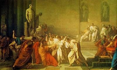 Death of Julius Caesar, by V. Camuccini (1798), Museo Nazionale di Capodimonte, WikiMedia Commons