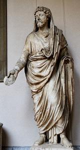 Roman Toga, (c1st century BCE), Museo Archeologico Regionale Antonio Salinas, Photo by ML Nguyen, WikiMedia Commons