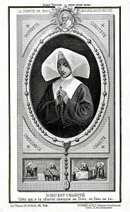 Daughters of Charity Holy Card, by C. Letaille, University of Dayton Libraries, Wikimedia Commons
