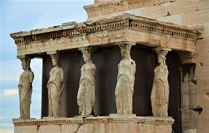 Porch of the Caryatids, Acropolis, Photo by C. Raddato, Wikimedia Commons