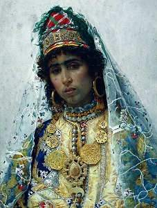Berber Bride (c1896) by Josep Tapiró, Museu Nacional d'Art de Catalunya, WikiMedia Commons