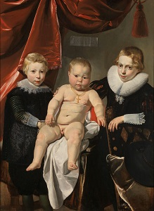 Group Portrait of Three Brothers by Thomas de Keyser (c1627-1632), Rijksmuseum-300px