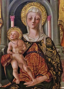 Madonna & Child Enthroned (cropped, c1490) by N. d'Maestro Antonio, MIA, Photo by cjverb (2018)