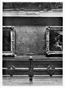 Missing Mona Lisa, the Louvre's Salon Carré (1911), WikiMedia Commons