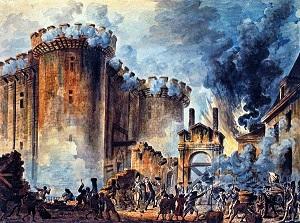 Prise de la Bastille by Jean-Pierre Houël (1789),Bibliothèque Nationale de France-300px