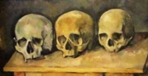 The Three Skulls (c1900) by Paul Cezanne, Detroit Institute of Arts, Photo by cjverb (2017)