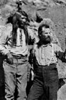 John Wesley Powell with Tau-gu, Chief Paiute (1869), Photo courtesy of Arizona Historical Society, Wikimedia Commons