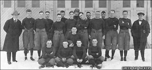 Green Bay Packers (1919), Public Domain, Wikimedia Commons