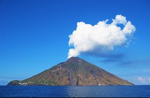 Stromboli Island & Volcano, Photo by Steven W. Dengler, Wikimedia Commons