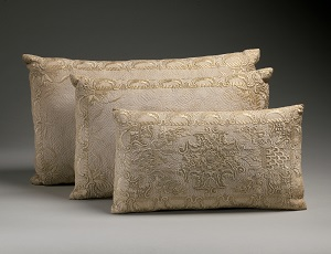 Embroidered Cotton Pillows, British (c17th century), Metropolitan Museum of Art-300px