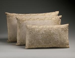 Embroidered Cotton Pillows, British (c17th century), Metropolitan Museum of Art-300px