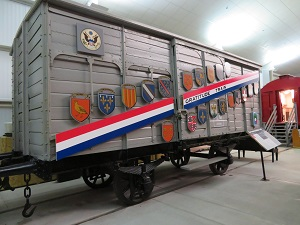 French Gratitude Train, National Railroad Museum, Photo by cjverb (2018)-300px