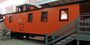 Milwaukee Road No. 2 Caboose, National Railroad Museum, Photo by cjverb (2018)-2-300px