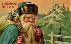 Father Frost Russian Postcard(pre-1917), author unknown, Wikimedia Commons