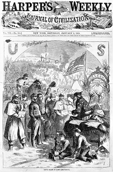 Santa Claus by Thomas Nast (1863) Harper's Weekly, Wikimedia Commons