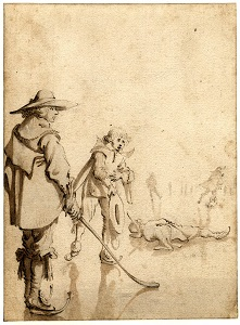 Skating Scene by Gerard Ter Borch II (1634), British Museum