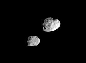 Epimetheus & Janus, Photo taken by Cassini Spacecraft, NASA-JPL-Space Science Institute (2006)