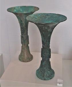 Bronze & Malachite Gu (Shang Dynasty, 1600-1100 BCE), UMMA, Photo by cjverb (2017)