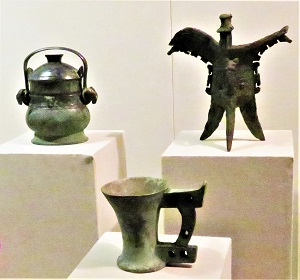Bronze Wine Vessels (Shang Dynasty, 1600-1100 BCE) Shaanxi History Museum, Photo by cjverb (2017)