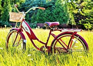 Red Bike, Photo by Jill Wellington, Pixabay-300px