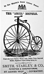 Smith, Starley & Co. Ad for Ariel Ordinary Bicycle (c1871-1874), Wikimedia Commons