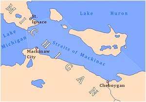 Straits of Mackinac, Wikimedia Commons