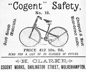 Safety Bicycle Advertisement (1887), Photo by H. Clarke, Wikimedia Commons