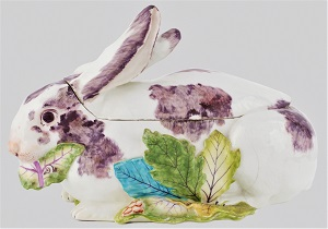 Tureen in the form of a Rabbit (c1755) by Chelsea Porcelain Manufactory, Art Institute of Chicago