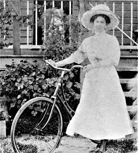 Woman with Safety Bicycle (1908), State Library of Queensland, Wikimedia Commons