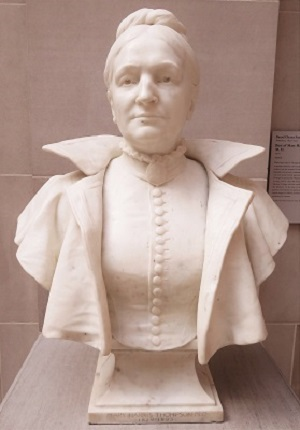 Bust of Mary Harris Thompson, MD (1902) by Daniel French, Art Institute of Chicago, Photo by cjverb (2019)