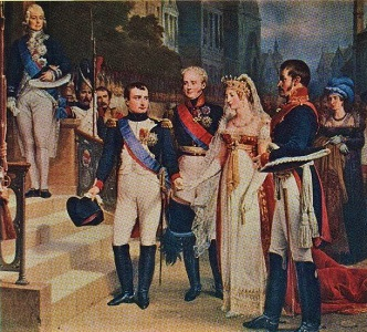 Napoleon Bonaparte receives the Queen of Prussia (c1900) by Nicolas Gosse, Wikimedia Commons