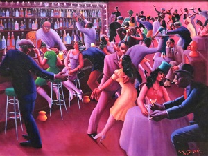 Nightlife (1943) by Archibald J. Motley, Jr., Chicago Art Institute, Photo by cjverb (2019)