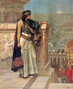 Queen Zenobia's Last Look Upon Palmyra (1888) by Herbert Schmalz, Wikimedia Commons